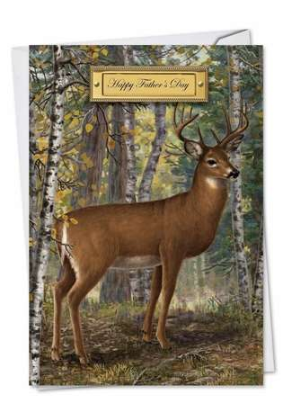 Creative Father's Day Greeting Card by Liz Goodrick-Dillon/ Suzanne Cruise from NobleWorksCards.com - Into The Woods