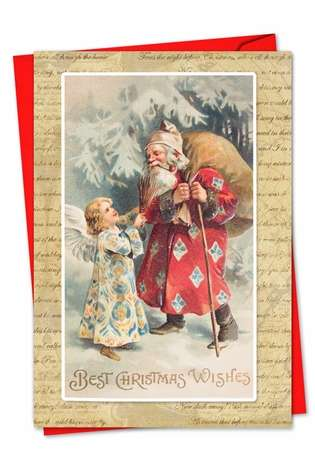 Creative Christmas Greeting Card from NobleWorksCards.com - Holly Jolly Santa