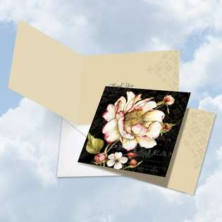 Creative Thank You Square Printed Greeting Card by Carol Robinson from NobleWorksCards.com - Botanica