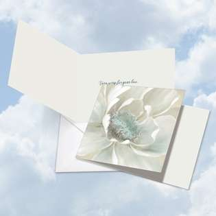 Creative Sympathy Square Paper Greeting Card by Carol Robinson from NobleWorksCards.com - Peaceful Petals