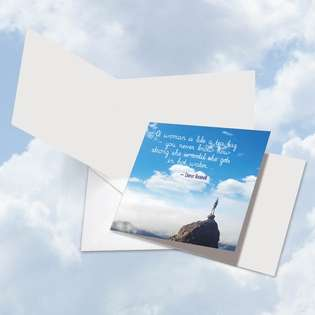 Hysterical Blank Square Greeting Card from NobleWorksCards.com - Women Power Quotes Roosevelt