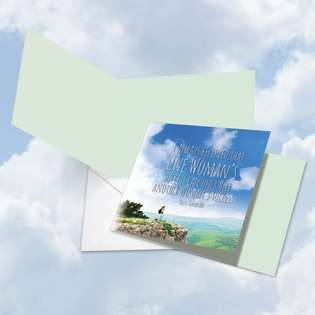 Hilarious Blank Square Paper Greeting Card from NobleWorksCards.com - Women Power Quotes Vanderbilt