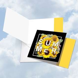 Creative Blank Square Printed Greeting Card from NobleWorksCards.com - 4 Season's Greetings - Summer