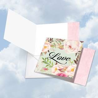 Creative Blank Square Paper Card by Batya Sagy from NobleWorksCards.com - In a Word - Love