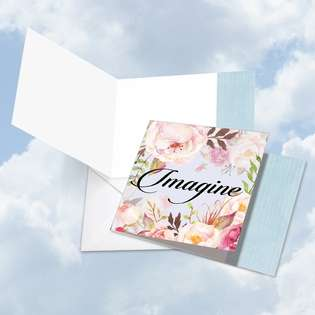 Creative Blank Square Printed Card by Batya Sagy from NobleWorksCards.com - In a Word - Imagine