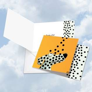 Stylish Thank You Square Greeting Card by Ed Van Der Hoek from NobleWorksCards.com - See Spot Dots