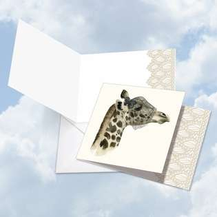 Creative Blank Square Greeting Card by World Art Group from NobleWorksCards.com - Wildlife Glamour Giraffe