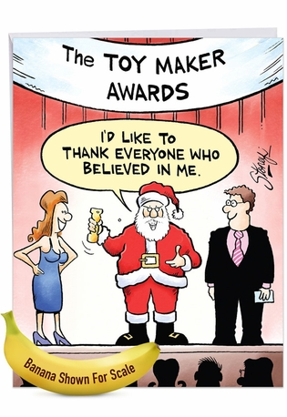 Toy Maker Awards: Hysterical Merry Christmas Jumbo Printed Greeting Card