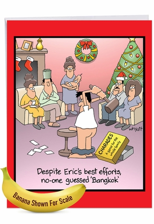 Humorous Merry Christmas Jumbo Paper Card By Tim Whyatt From NobleWorksCards.com - Bangkok