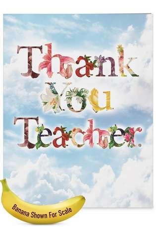 Creative Teacher Thank You Jumbo Greeting Card By NobleWorks Inc From NobleWorksCards.com - Thanks A Bunch