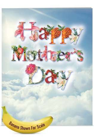 Stylish Mother's Day Jumbo Printed Greeting Card from NobleWorksCards.com - Mother's Day Bunch