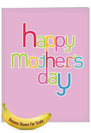 Creative Mother's Day Jumbo Printed Greeting Card from NobleWorksCards.com - Hipster