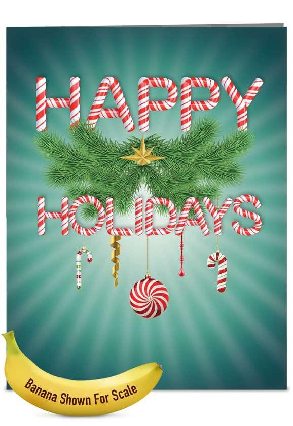 Creative Christmas Jumbo Paper Card from NobleWorksCards.com - Seasonal Sentiments