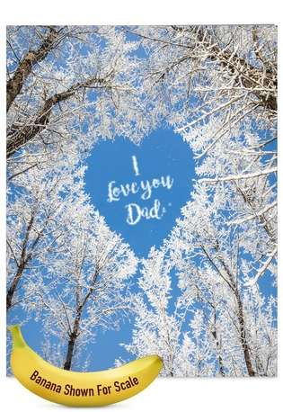 Funny Father's Day Jumbo Paper Greeting Card from NobleWorksCards.com - Sky Heart-Dad