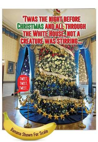 Hysterical Christmas Jumbo Paper Greeting Card from NobleWorksCards.com - Trump Twas The Night