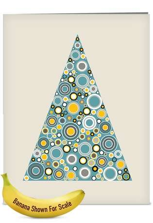 Stylish Christmas Jumbo Printed Card from NobleWorksCards.com - Ornamentals