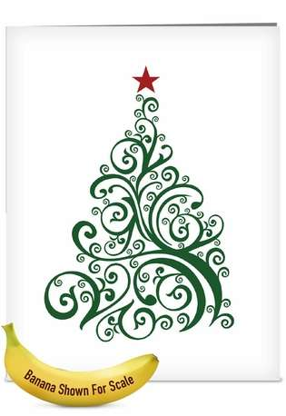 Creative Christmas Jumbo Paper Card from NobleWorksCards.com - Just Fir You