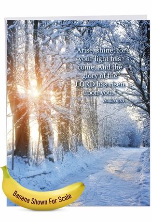 Creative Congratulations Jumbo Printed Card From NobleWorksCards.com - Winter Sunrise - Isaiah 60:1