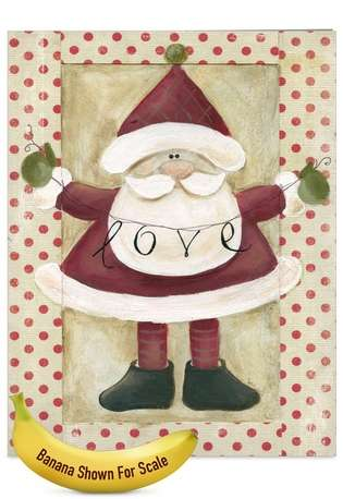 Stylish Christmas Jumbo Paper Card by Carol Robinson from NobleWorksCards.com - Santa Banners