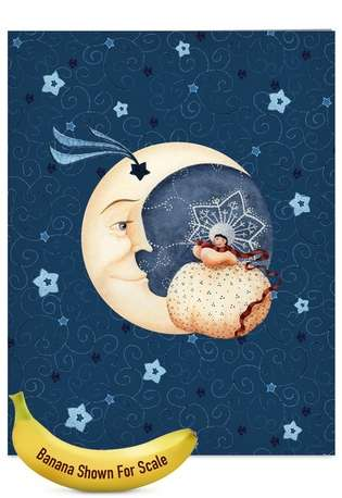 Creative Christmas Jumbo Printed Greeting Card from NobleWorksCards.com - Blue Christmas