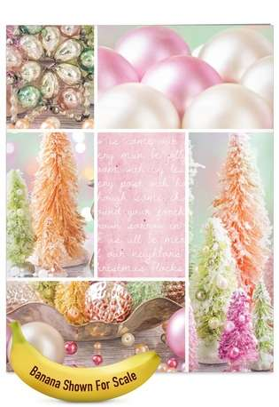 Stylish Christmas Jumbo Paper Card from NobleWorksCards.com - Pastel Noel