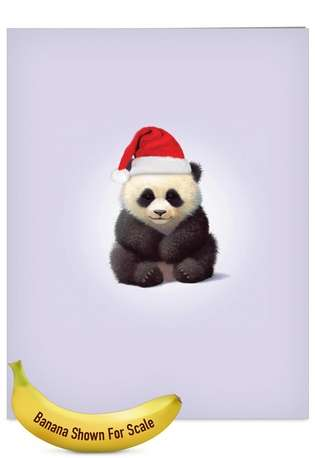 Stylish Christmas Jumbo Greeting Card by John Butler from NobleWorksCards.com - Zoo Babies