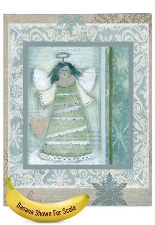 Stylish Christmas Thank You Jumbo Greeting Card by Carol Robinson from NobleWorksCards.com - Snow Angels