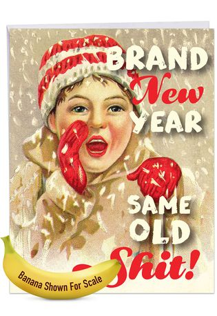 Hysterical Merry Christmas Jumbo Printed Greeting Card By Offensive+Delightful From NobleWorksCards.com - Brand New Year
