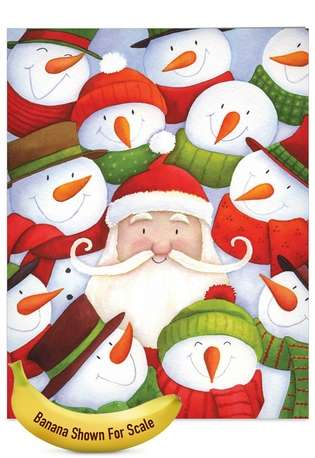 Creative Christmas Jumbo Paper Card by Portfolio Select Ltd from NobleWorksCards.com - Santa Selfies