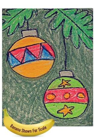 Creative Christmas Jumbo Greeting Card by Amy Kern Wickline from NobleWorksCards.com - Coloring