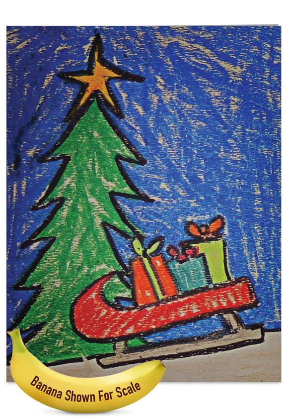 Creative Christmas Jumbo Paper Greeting Card by Amy Kern Wickline from NobleWorksCards.com - Coloring