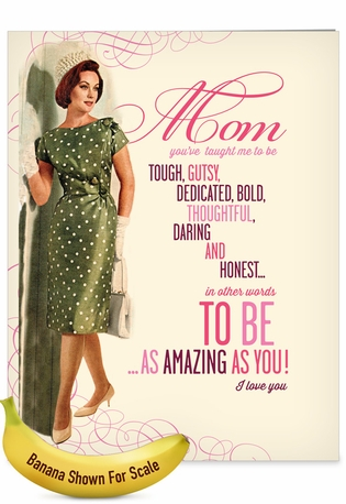 Funny Mother's Day Jumbo Paper Card By Offensive+Delightful From NobleWorksCards.com - Amazing As You