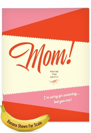 Hilarious Mother's Day Jumbo Printed Card By Offensive+Delightful From NobleWorksCards.com - Sorry For Swearing
