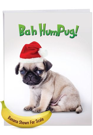 Humorous Merry Christmas Jumbo Card From NobleWorksCards.com - Bah HumPug