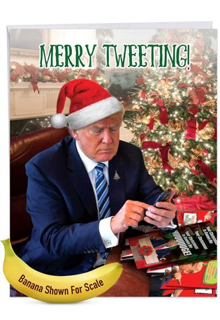 Hysterical Merry Christmas Jumbo Greeting Card From NobleWorksCards.com - Merry Tweeting