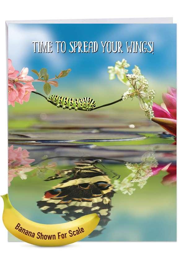 Aspirations - Caterpillar: Creative Graduation Large Greeting Card