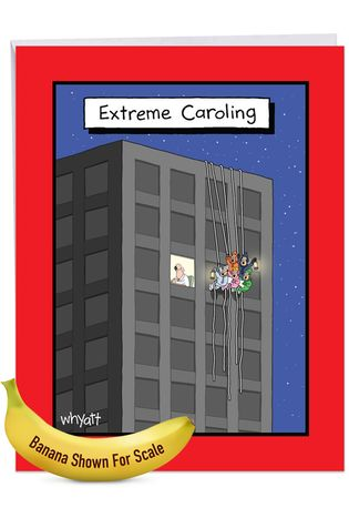 Funny Merry Christmas Jumbo Card By Tim Whyatt From NobleWorksCards.com - Extreme Caroling