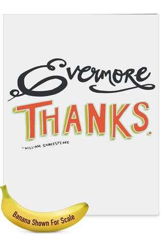 Creative Teacher Thank You Jumbo Printed Greeting Card By NobleWorks Inc From NobleWorksCards.com - Words of Appreciation
