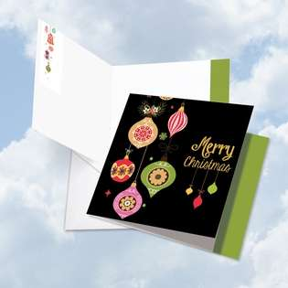 Creative Christmas Jumbo Square Printed Card from NobleWorksCards.com - Retro Groovy Greetings