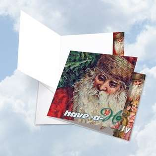 Stylish Christmas Jumbo Square Greeting Card from NobleWorksCards.com - Abstract Wishes - Have a Holly