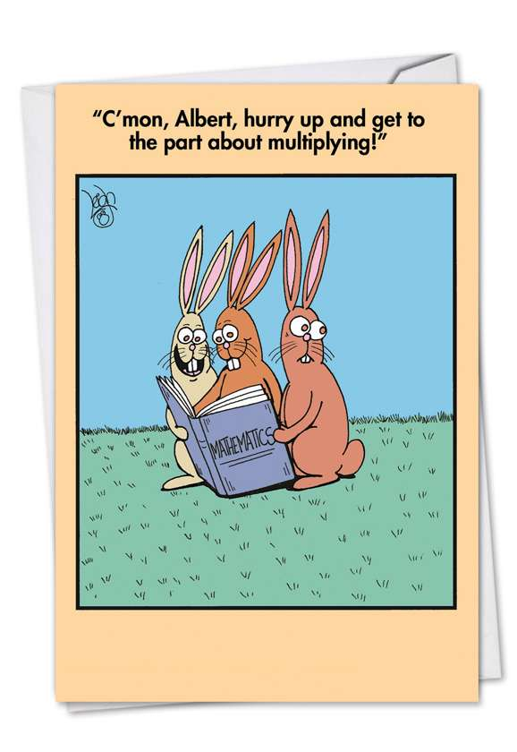 Multiplying: Funny Easter Paper Card
