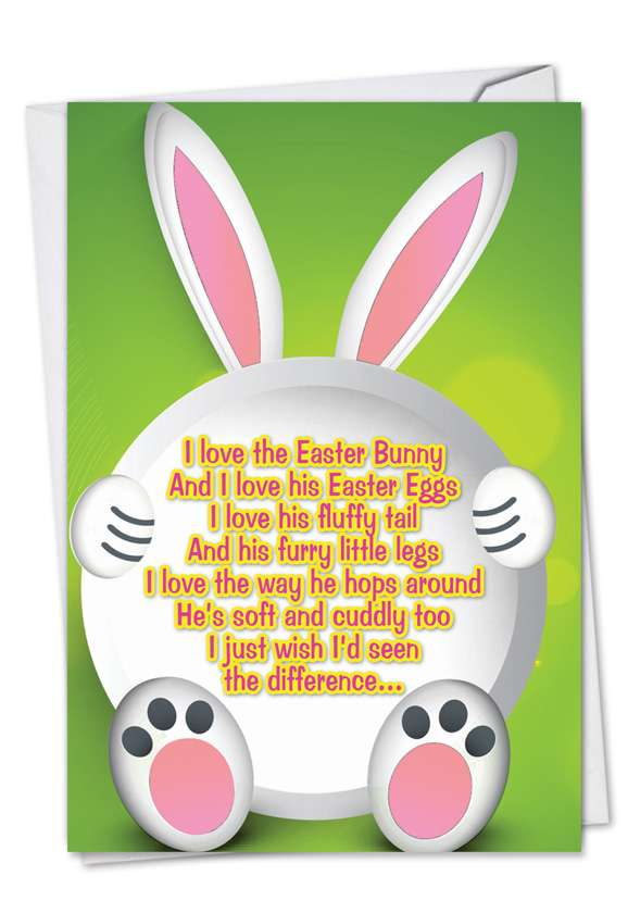 Chocolate and His Poo: Hilarious Easter Paper Card