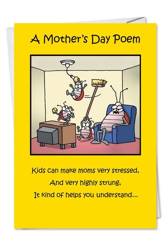 Moms Day Poem Card