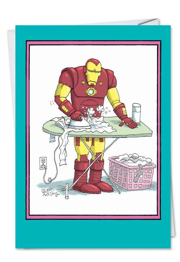 Iron Man: Funny Mother's Day Paper Card