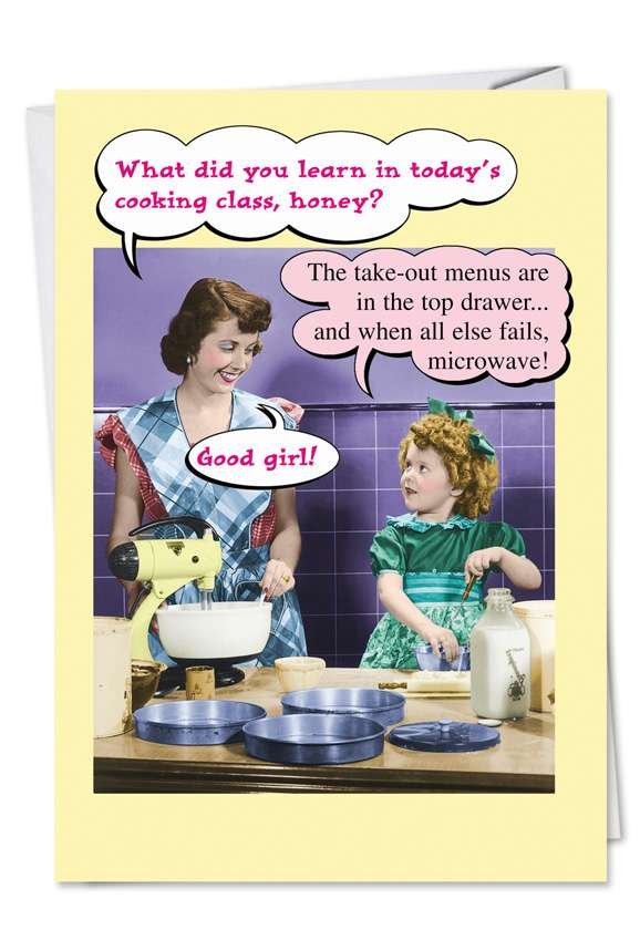 Microwave: Hysterical Mother's Day Paper Greeting Card