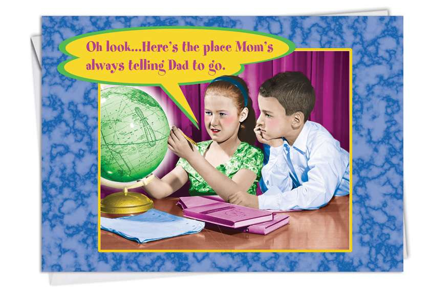 Here's The Place: Funny Father's Day Paper Greeting Card