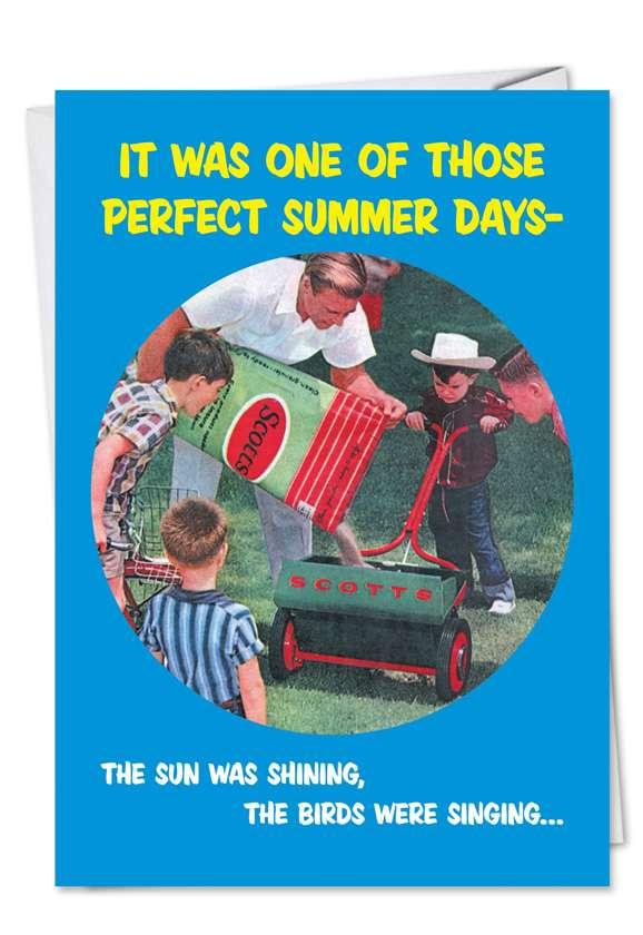 Lawn Mower Broken: Hilarious Father's Day Paper Greeting Card