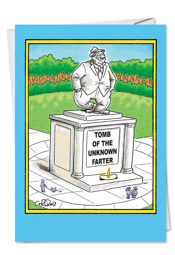Unknown Farter: Hysterical Father's Day Paper Card