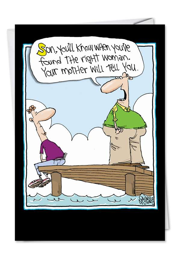 Found Right Woman: Humorous Father's Day Greeting Card