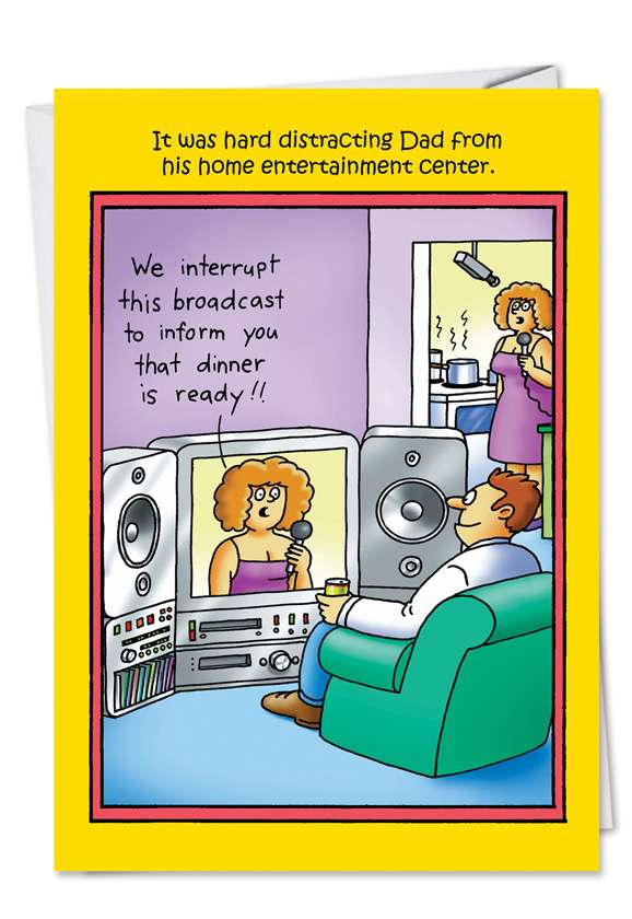 We Interrupt: Funny Father's Day Printed Card